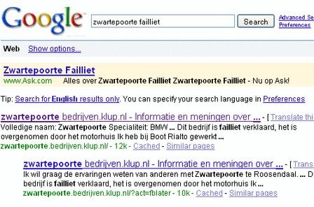 Hof Amsterdam handhaaft opmerkelijk Google-vonnis