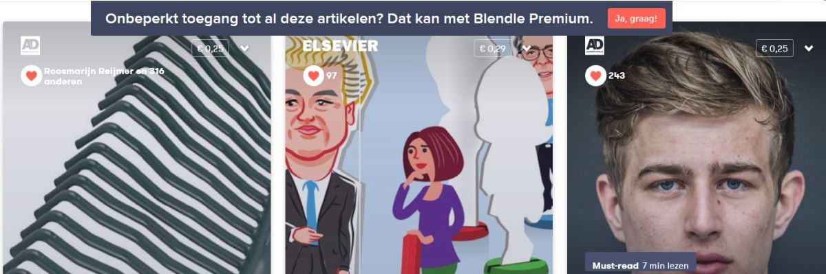 Persgroep vreest macht Blendle nu nog niet